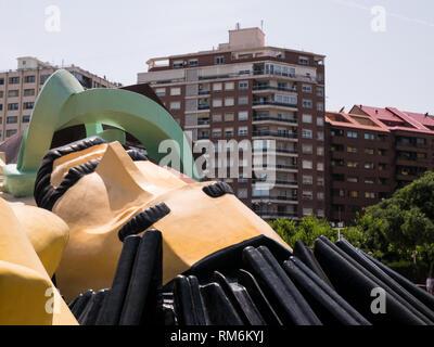 Gulliver Park in the Turia River Bed, Valencia - Stock Photo