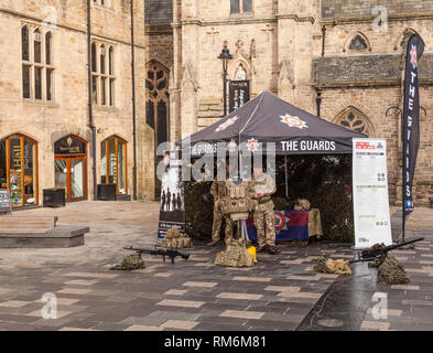 Soldiers at a Army Recruitment marquee at Durham,England,UK - Stock Photo