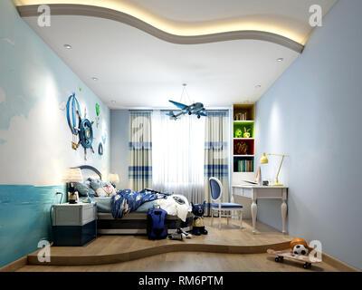 3d render home interior bedroom