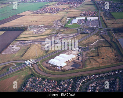 historic aerial view of the Kingswood Estate in North Hull taken 6th Nov 1998 - Stock Photo