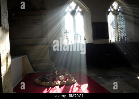 All Saints Church, Godshill, Isle of Wight, England, UK. - Stock Photo