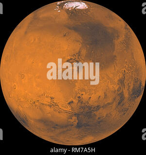 the planet Mars in whole - Stock Photo