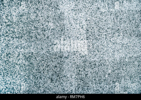 Zinc galvanized metal plate surface texture as abstract industrial background - Stock Photo