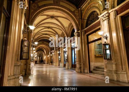Freyung passage in Vienna, Austria - Stock Photo