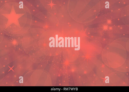Stars background in trendy color 2019 Living coral