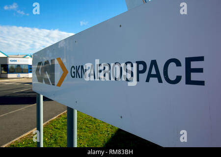 GKN, Factory, Entrance, East Cowes, isle of Wight, England, UK, - Stock Photo