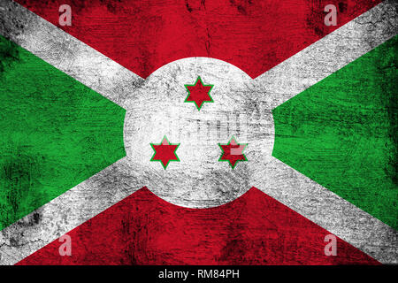 Burundi grunge and dirty flag illustration. Perfect for background or texture purposes. - Stock Photo