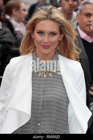 London, UK, 11th May 2014 Guest arrives at the European Premiere of 'Godzilla' at Odeon Leicester Square in London, England - Stock Photo