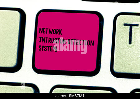 Word writing text Network Intrusion Detection System. Business concept for Safety security multimedia systems Keyboard key Intention to create compute - Stock Photo