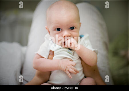 View of a cute baby. - Stock Photo