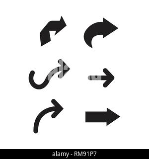 Collection of black vector arrows. Arrow icon. Arrow vector icon. Arrow. Arrows vector collection - Stock Photo