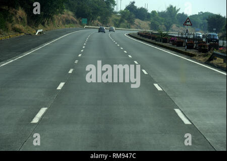 Mumbai Pune Express Highway, Maharashtra, India, Asia - Stock Photo