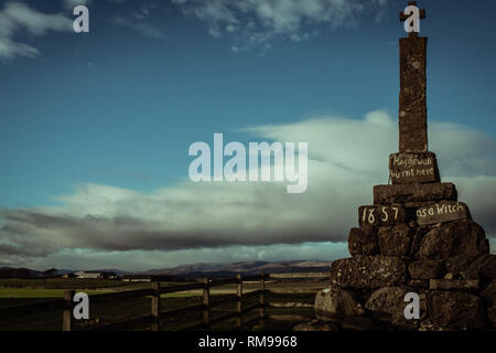 Maggie Wall Memorial, Dunning, Perthshire, Scotland - Stock Photo