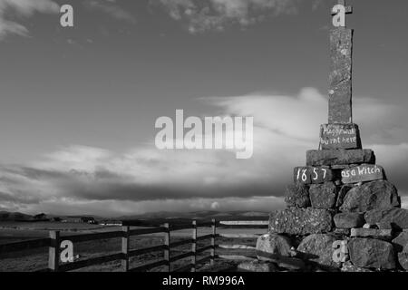 Maggie Wall memorial , Dunning, Perthshire, Scotland. - Stock Photo