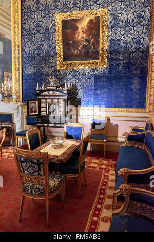 Rooms in the interior of the first floor of the Pitti Palace, which houses the Palatine Gallery and the Royal and Imperial Apartments. - Stock Photo