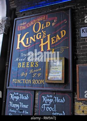 Old Kings Head Pub, Southwark - King's Head Yard, Greater London, South East England, UK,  SE1 1NA - Stock Photo