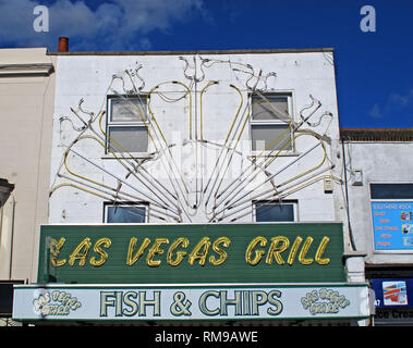 Las Vegas Grill, Southend, seafood, 46 Marine Parade, Southend-on-Sea SS1 2EN - Stock Photo