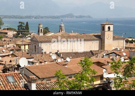 Beautiful aerial views of Desenzano del Garda, a town and comune in the province of Brescia, in Lombardy, Italy. - Stock Photo
