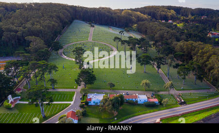 San Francisco National Cemetery, United States Military Cemetery, San Francisco, CA, USA - Stock Photo