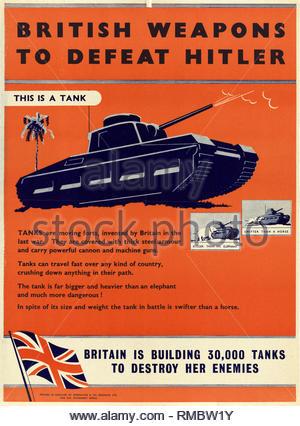 British World War 2 Public Information Propaganda poster - Stock Photo