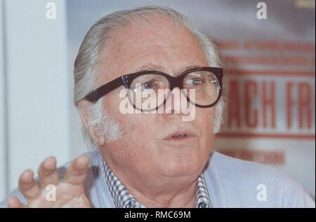 British director and actor Sir Richard Attenborough celebrates his 80th birthday on August 29, 2003. - Stock Photo