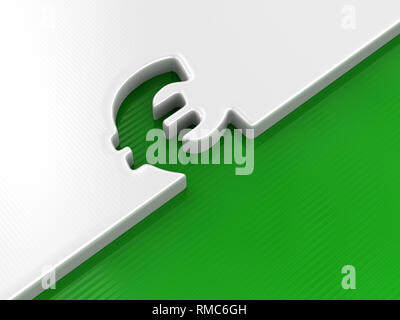 Euro sign. Image with clipping path - Stock Photo