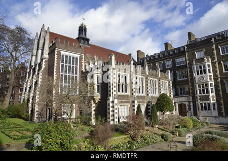 Middle temple Hall, one of the four Inns of Court in the temple area of the City of London - Stock Photo