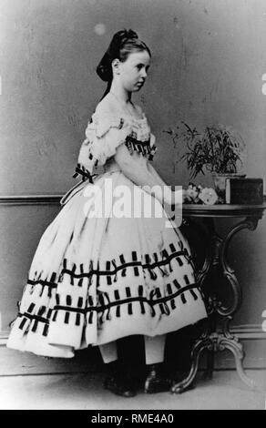 Portrait of Grand Duchess Maria Alexandrovna of Russia (1853-1920). Albumin Photo - Stock Photo