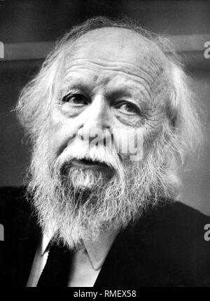 William Golding (1911-1993), British writer and Nobel laureate in Literature. - Stock Photo