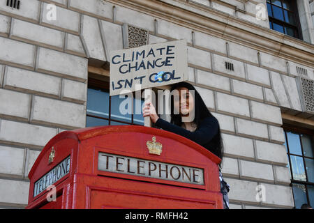 London, UK. 15th Feb 2019. Thousands protesters attend the Youth Strike 4 Climate demand world leaders to act now at Parliament Square on 15 Feb 2019, London, UK Credit: Picture Capital/Alamy Live News - Stock Photo