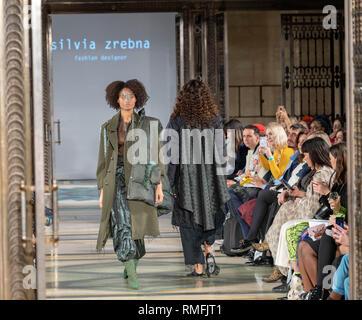 London, UK. 15th February 2019 Fashion Scount at London, UK. Fashion Week AW19 at the Freemasons Hall, Great Queens Street, Credit: Ian Davidson/Alamy Live News - Stock Photo