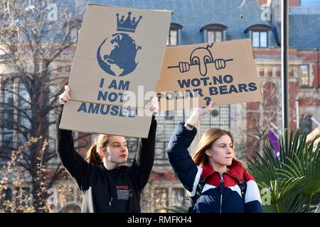 London, UK. 15th Feb, 2019. Climate Change Protest, Parliament Square, London. UK Credit: michael melia/Alamy Live News - Stock Photo