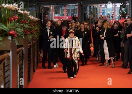 Berlin, Germany. 13th Feb, 2019. Preise for Agnes Varda, Berlinale 2019. Credit: Beata Siewicz/Pacific Press/Alamy Live News - Stock Photo