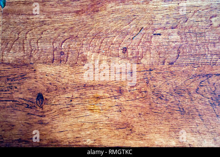 Old wood showing signs of wear and stain - - Stock Photo