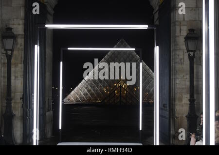 PARIS, FRANCE - OCTOBER 02: Runway background during the Louis Vuitton show as part of the Paris Fashion Week Womenswear Spring/Summer 2019. - Stock Photo