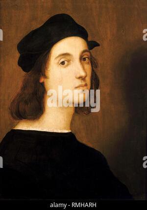 Raphael, portrait of Raffaello Sanzio da Urbino (1483 – 1520), Italian artist painter - Stock Photo