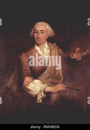 Francesco Lazzaro Guardi (1712 – 1793) Italian painter artist. Francesco Guardi portrayed by Pietro Longhi - Stock Photo