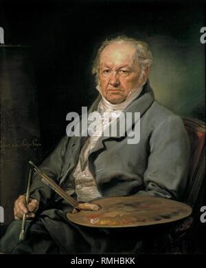 Francisco Goya, Francisco José de Goya y Lucientes (1746 – 1828) Spanish painter by Vicente López Portaña - Stock Photo
