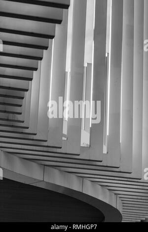 Abstract curved feature of an installation outside the Vancouver Art Gallery - Stock Photo
