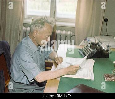 The writer Mikhail Sholokhov (1905-1984). Color photography - Stock Photo