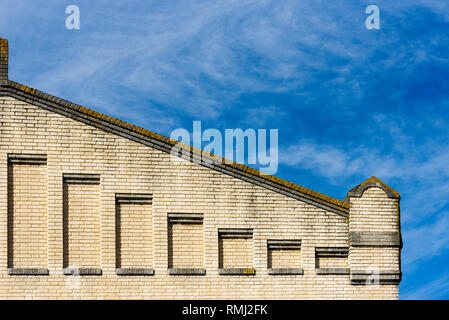 detail of an industrial building in the Alcantara district, Lisbon, Portugal - Stock Photo