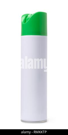 Blank air freshener aerosol spray bottle isolated on white - Stock Photo