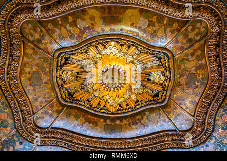 Los Angeles, California, United States of America - January 9, 2017. Ceiling in the lobby of El Capitan Theatre in Los Angeles, CA. - Stock Photo