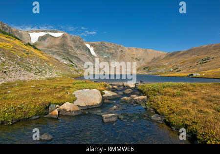 WY03729-00...WYOMING - Stream from Gardner Lake located on the Beartooth Loop National Recreation Trail in the Shoshone National Park. - Stock Photo
