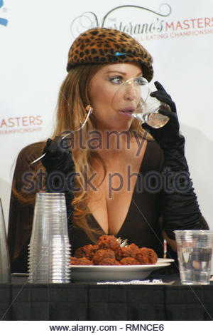 Las Vegas, NV - Former 'Baywatch' and 'Playboy' cover girl Angelica Bridges competes in the Martorano's Masters Meatball Eating Championships at the Rio Hotel and Casino this afternoon.  The contestant who eats the most meatballs in 10 minutes is awarded $3,000 in cash and named as the 1st champion of the event.  Angelica made sure to mind her manners and didn't even make a mess while eating with her fork, unfortunately she didn't win.    GSI Media                     November 8, 2009 (310) 505-8447 (323) 423-9397 (310) 261-8649 - Stock Photo
