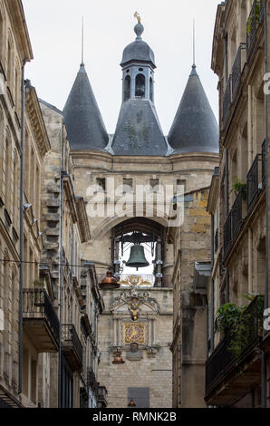 La Grosse Cloche (Great bell15th century), the second remaining gate of the Medieval walls. Bordeaux, Gironde department, France - Stock Photo