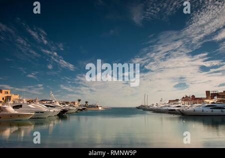 Abu Tig Marina in El Gouna, Egypt - Stock Photo
