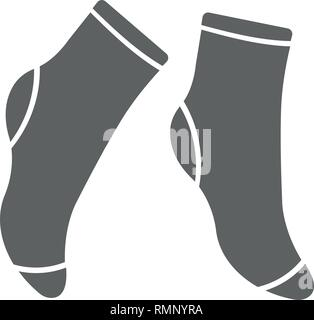 Socks icon. Premium Socks icon design from clothes collection. For web, mobile, software, print. Vector illustration flat design socks isolated on white background. Textile warm clothes socks pair cute decoration wool winter clothing. Sport season collection. - Stock Photo