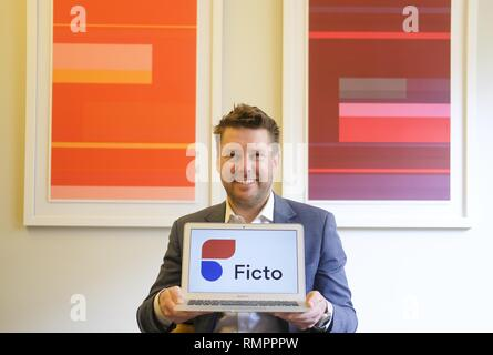 Los Angeles, California, USA. 9th Jan, 2019. Mike Esola, the founder/CEO of Fiction Riot. Credit: Ringo Chiu/ZUMA Wire/Alamy Live News - Stock Photo