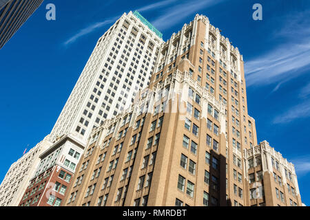 Tulsa, Oklahoma, United States of America - January 20, 2017. Exterior view of Philtower Building in Tulsa, OK. - Stock Photo